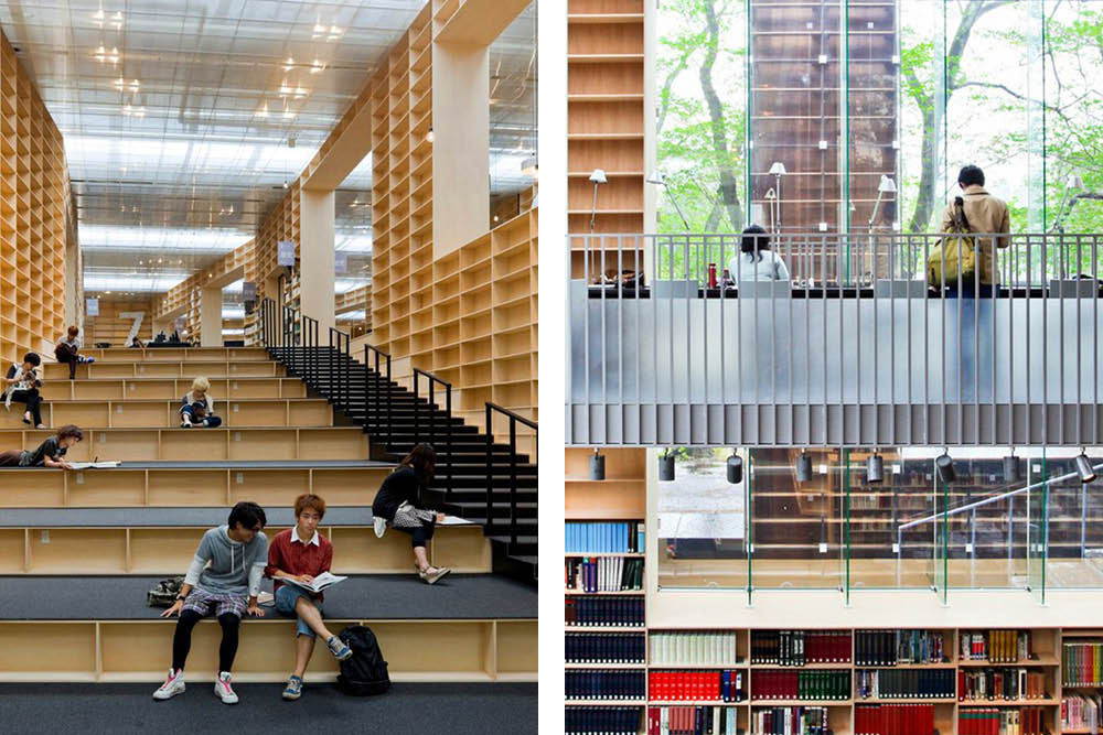 architecture photos library design Musashino Art Library Tokyo