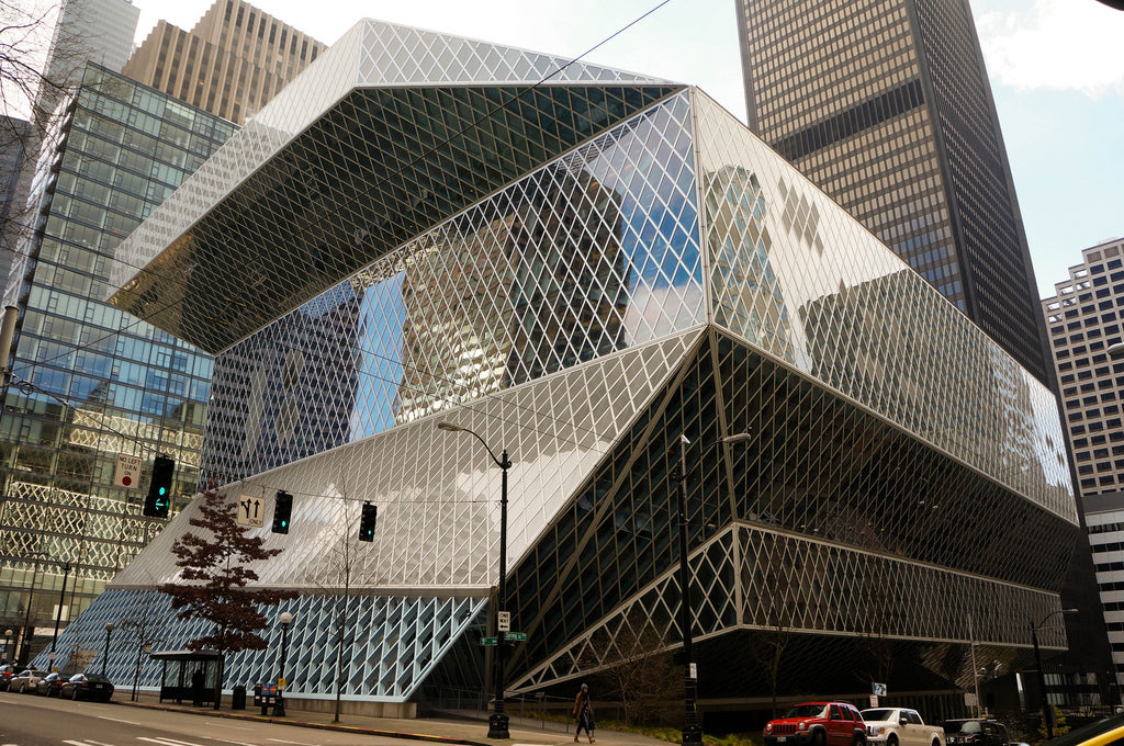 architecture photos library design Seattle Central Library