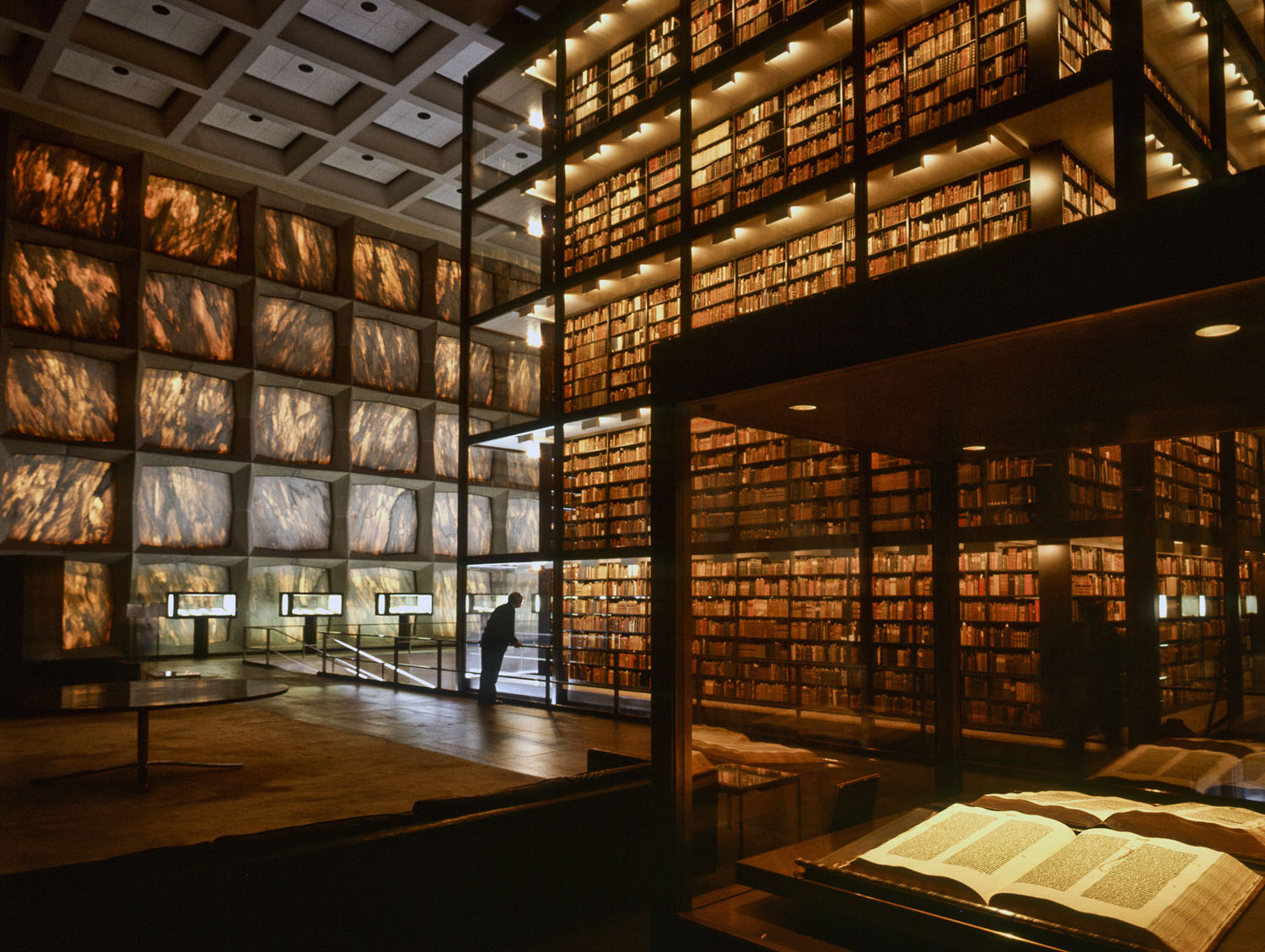 architecture photos library design Beinecke Yale Library