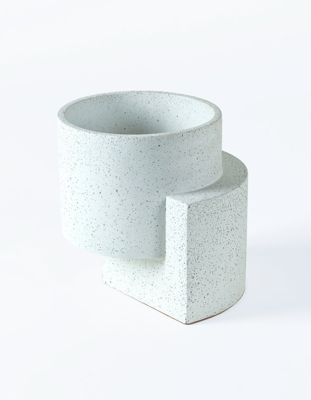 Platform Planter Medium White