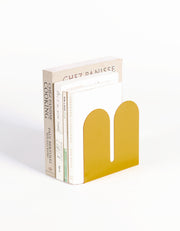 steel yellow bookend desert-inspired home accessories for bookshelf