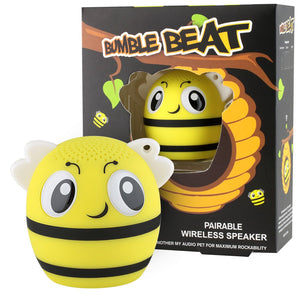 My Audio Pet BumbleBeat Wireless Bluetooth Speaker with True Wireless Stereo Bee with honey comb bee nest box