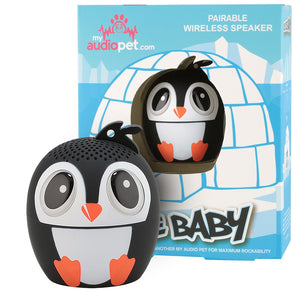 My Audio Pet Ice Ice Baby Wireless Bluetooth Speaker with True Wireless Stereo Penguin with Iceberg and Igloo box