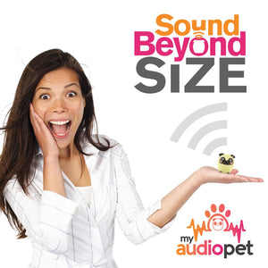 My Audio Pet Power Pup Wireless Bluetooth Speaker with True Wireless Stereo Sound Beyond Size So Small So Powerful