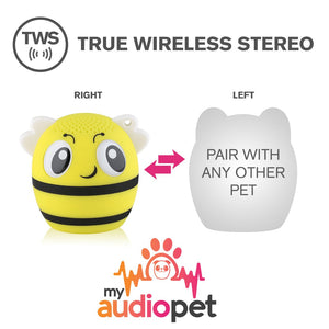 My Audio Pet BumbleBeat Wireless Bluetooth Speaker with True Wireless Stereo Pair with any other MyAudioPet