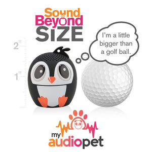 My Audio Pet Ice Ice Baby Wireless Bluetooth Speaker with True Wireless Stereo Size of a Golf Ball
