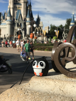 My Audio Pet Ice Ice Baby Wireless Bluetooth Speaker with True Wireless Stereo Penguin rocking the music party at the Magic Kingdom in Disney World