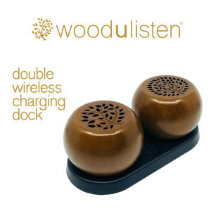 Woodulisten Java Stereo Set with Charging Dock