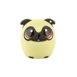 My Audio Pet Power Pup Wireless Bluetooth Speaker with True Wireless Stereo Pug looking at you