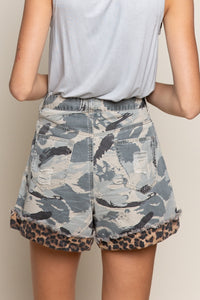 Hometown Camo & Leopard Shorts