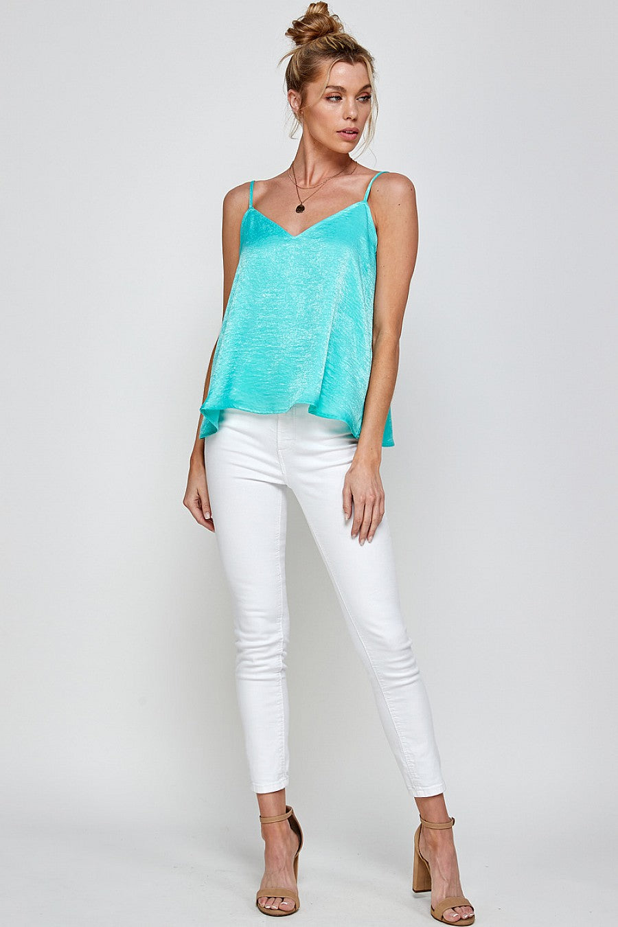 Warm Weather Cami in Seafoam Green