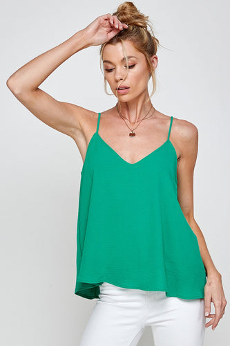 Warm Weather Cami in Kelly Green
