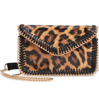 Metallic Chain Trim Crossbody