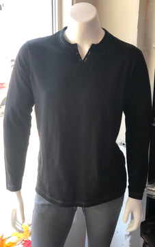 This Is A Man's World Long Sleeve Henley Shirt