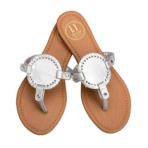 Silver Disk Sandals