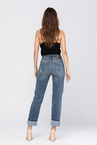 Curvy Bleach Splash Boyfriend Jeans