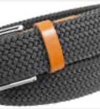 Florsheim Woven Belt with Leather Buckle