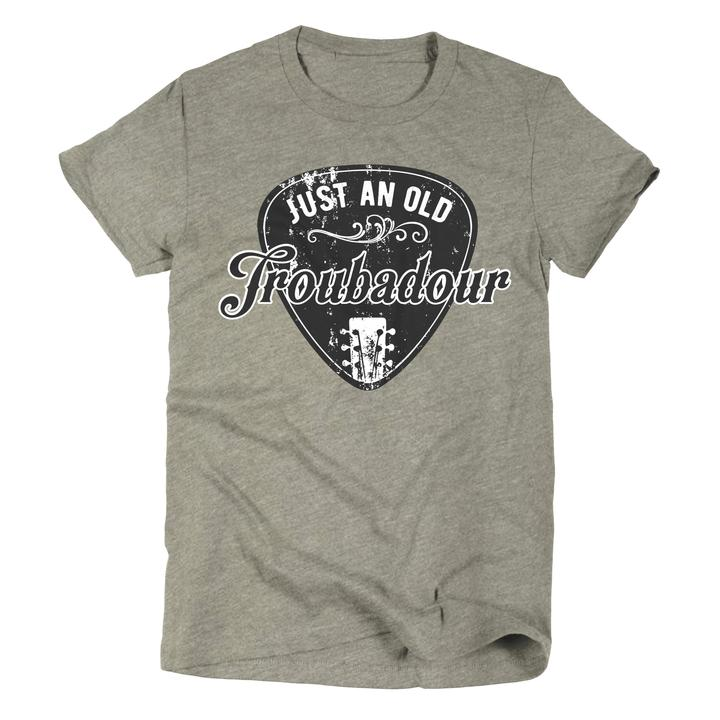 Just An Old Troubadour Military Green Graphic Tee