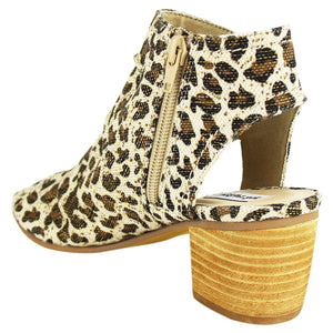 The Anna Leopard Peep Toe Bootie
