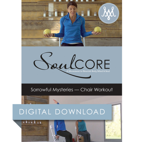 Sorrowful Mysteries Chair Workout Digital Download