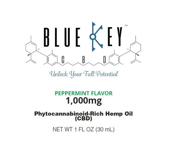 Blue Key CBD - Peppermint 1000