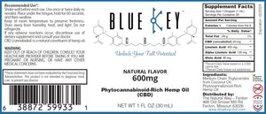 Blue Key CBD - Natural 600