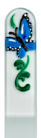 Blue Butterfly Hand Painted Nail File