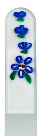 Blue Flower Hand Painted Nail File