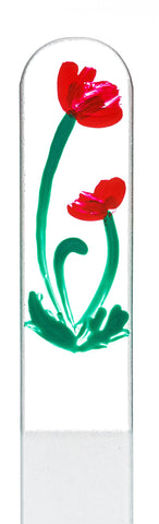 Poppy Hand Painted Nail File
