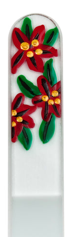 Poinsettia Seasonal Hand Painted Nail File