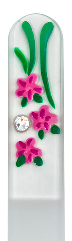 Pink Flower Hand Painted Nail File