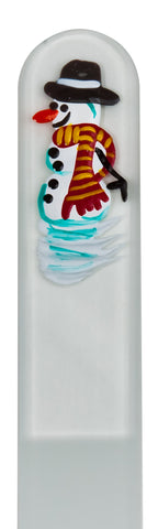 Snowman Seasonal Hand Painted Nail File