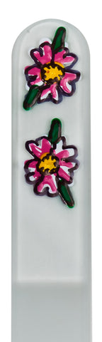 Double Flower Hand Painted Nail File