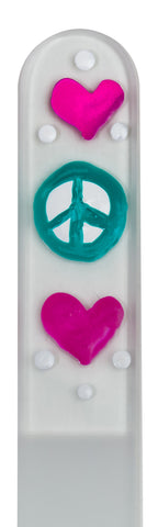 Peace Hand Painted Nail File