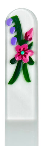 Wild Rose Hand Painted Nail File