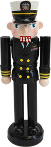Navy Nutcracker Ornament: Dress Blue Officer
