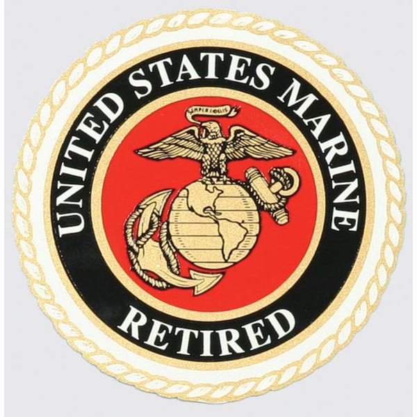 United States Marine Corps Retired with EGA Decal