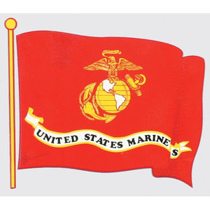 US Marine Corps Wavy Flag with EGA Decal