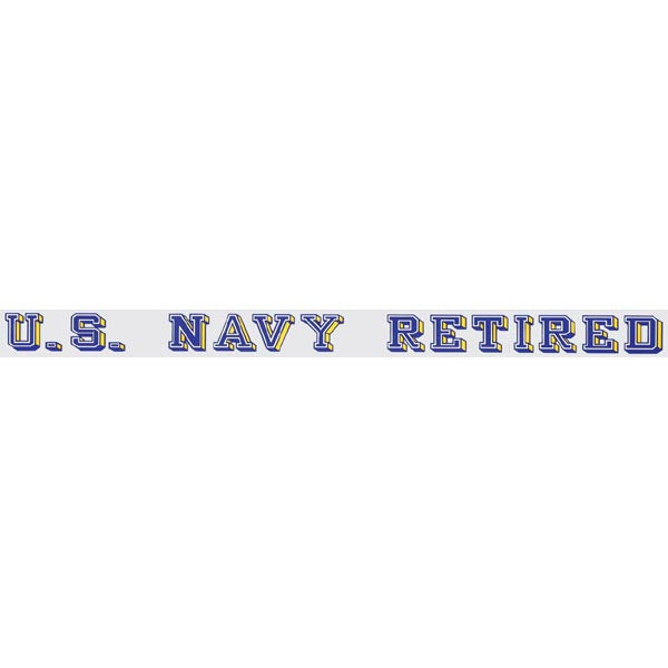 US Navy Retired Window Strip Decal