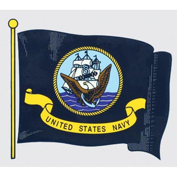 US Navy Wavy Flag Decal
