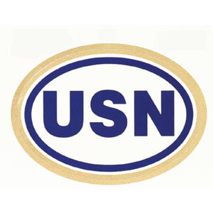 USN Oval Decal