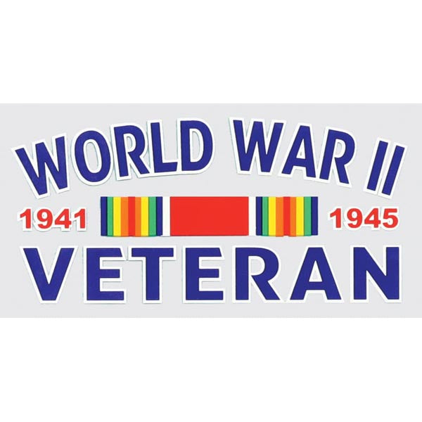 WWII Veteran with Ribbon Decal