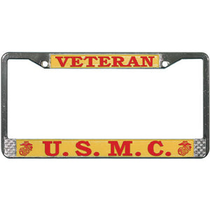 USMC Veteran License Plate Frame