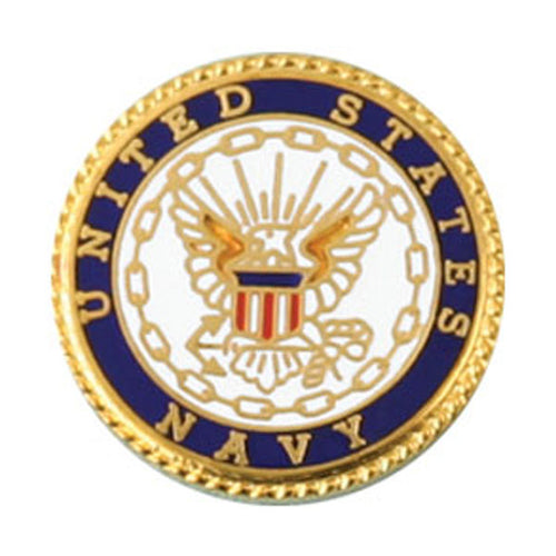 US Navy Round Lapel Pin
