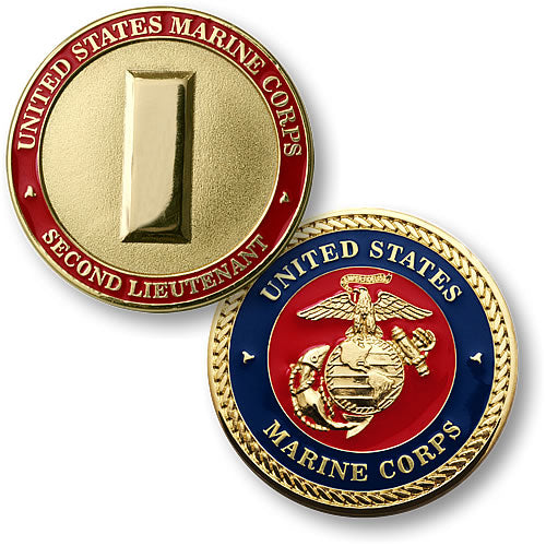 U.S. Marines Second Lieutenant Coin