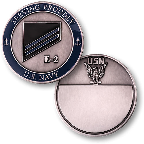 Navy E2 Blue Coin