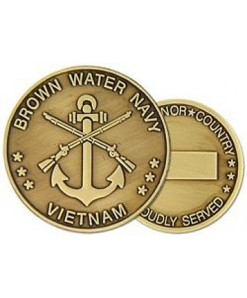 Brown Water Navy Vietnam Challenge Coin