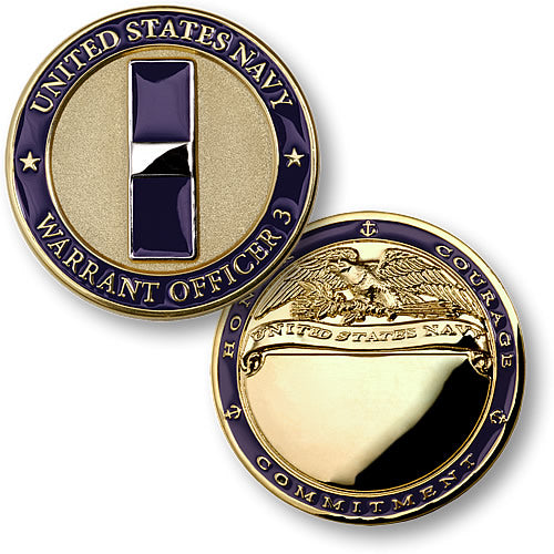 U.S. Navy Warrant Officer 3 Coin