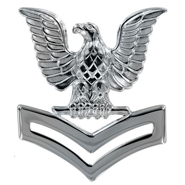 Navy Cap Device: E5 Petty Officer Second Class - Silver