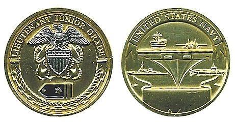 Rank, Navy Lt. Junior Grade Coin